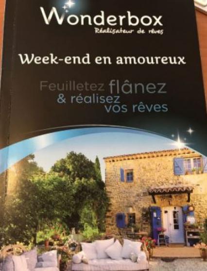 """wonderbox """"weekend en amoureux"""" (valeur - Annonce gratuite marche.fr"""