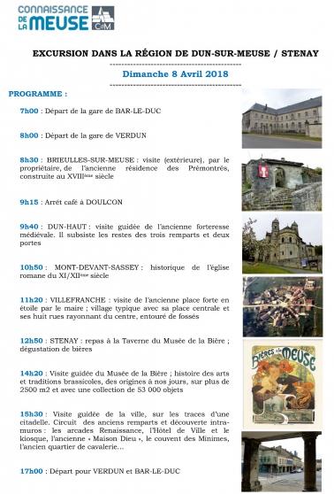 excursion dun-sur-meuse stenay - Annonce gratuite marche.fr