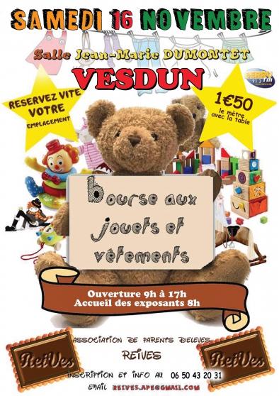 Annonce occasion, vente ou achat 'Le 16/11 Bourse jouets et aux vêtements'