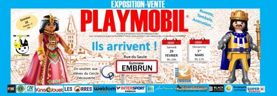 Annonce occasion, vente ou achat 'EXPOSITION VENTE PLAYMOBIL® à EMBRUN'