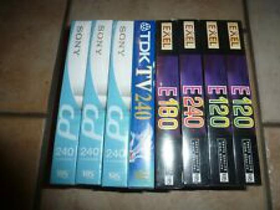 LOT 8 CASSETTES VIDEO VHS VIERGES NEUVE