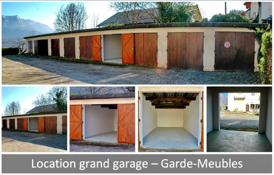 Loue grands garages au Bourget-du-Lac