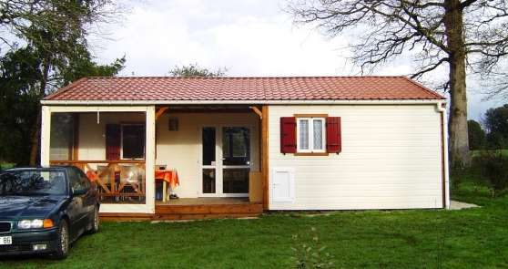 Chalet samibois safran confort jmm immobilier a vendre mobil home chalets avrill - Chalet de jardin occasion a vendre ...