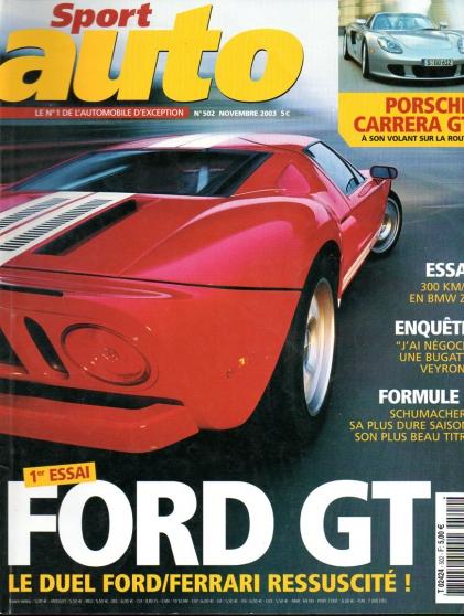 Sport auto n° 502 Novemb 2003 Ford GT 40