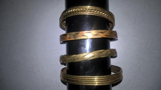 lots de 4 bracelets en cuivre - Annonce gratuite marche.fr