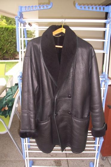 manteau 3/4 en cuir veritable doublé ent