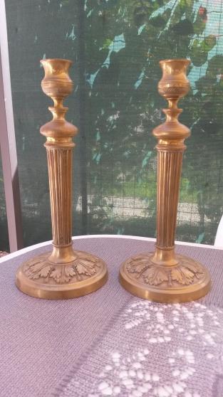 Bougeoir en laiton et bronze