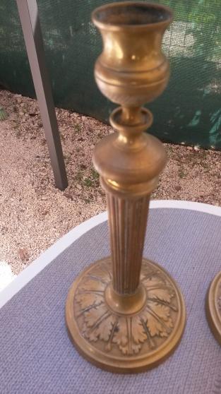 Bougeoir en laiton et bronze - Photo 2