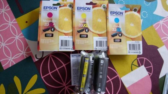 CARTOUCHES ENCRE EPSON 33 ORIGINE - Photo 2