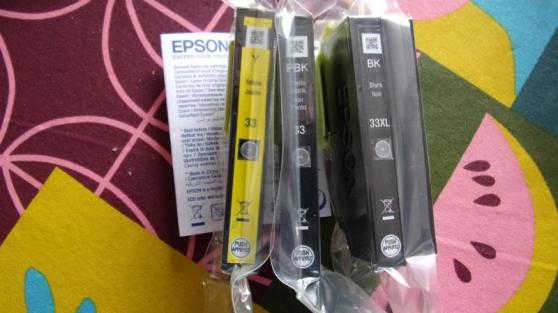 CARTOUCHES ENCRE EPSON 33 ORIGINE - Photo 3