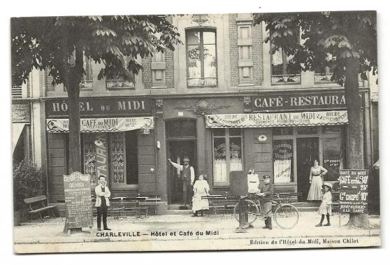 CHARLEVILLE (08) Hôtel et Café du Midi