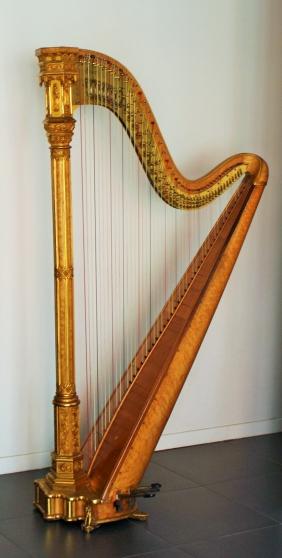superbe harpe erard gothique musique