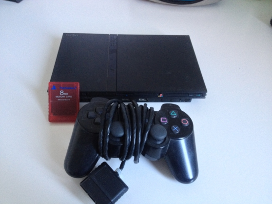 Console PS2+ jeux + carte mémoire + mane