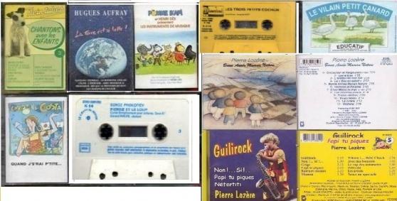K7 audio pour enfants + 2 CD P.LOZERE