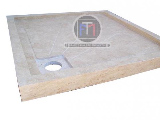 travertin bac a douche 90x90 ref 040 valr as mat riaux de construction mat riaux de. Black Bedroom Furniture Sets. Home Design Ideas