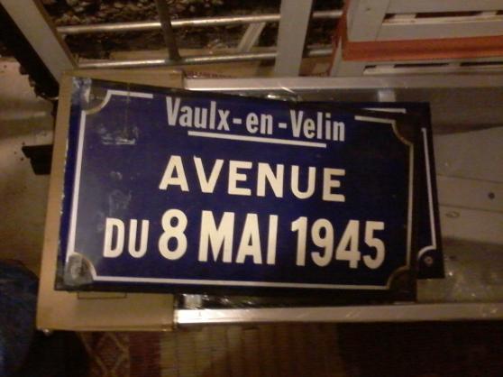 plaque de rue émaillée - Annonce gratuite marche.fr