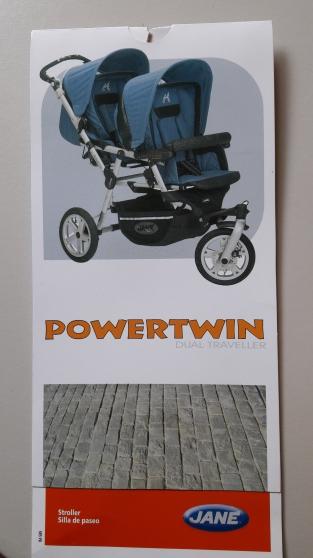 Annonce occasion, vente ou achat 'Poussette double Jané Power Twin 2 cosy'