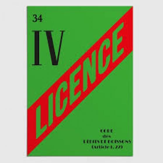 licence IV (licence 4) sur Agde