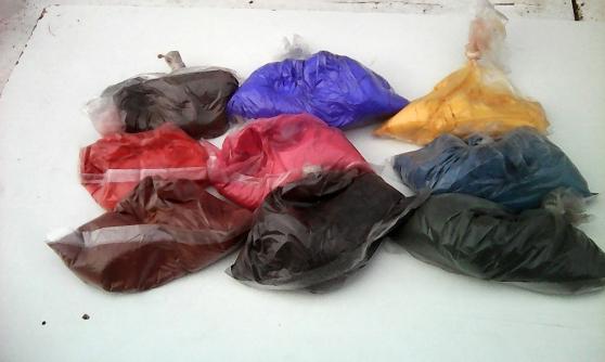 pigments variés