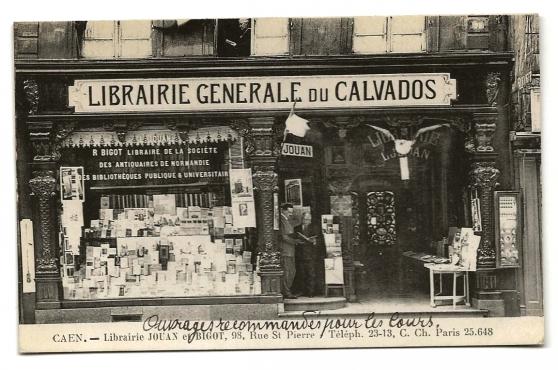 Annonce occasion, vente ou achat 'CAEN (14) - Librairie JOUAN et BIGOT'
