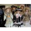Lot de 6 poupées en porcelaine