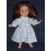 Robe vintage multicolore pour poupée 36