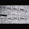 A céder 4 pass 3 jours Hell Fest 2016