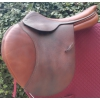 SELLE EQUITATION CUIR OBSTACLE 17.5