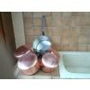 série de casseroles en cuivre etamé - Annonce gratuite marche.fr