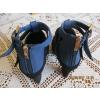 Chaussures femme en daim noir & bleu