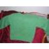 Pull-over en grosse laine, vert anis