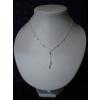 Collier Argent avec Perles Taille 47 cm
