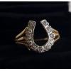 Bague or et diamants forme Fer à cheval