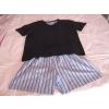 Pyjashort rayé