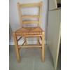 4 chaises en bois avec assise paille