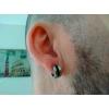 Boucles d'oreilles argentée et noires