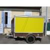 Remorque food truck chocolat et vert ani