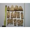Collection de 11 okimono et 3 netsuke an