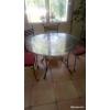 Vend table ronde en fer forgé+ 6 chaises