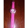 Montre femme en cuir bracelet rose