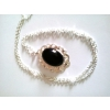 Collier pendentif pierre gemme onyx