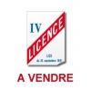 Vente Licence IV