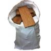 Chutes de bois en sac