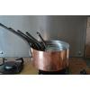 6 casseroles en cuivre