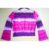 T shirt violet à motif T 44 ( 6 euros)